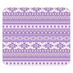 Fancy Tribal Borders Lilac Double Sided Flano Blanket (small)