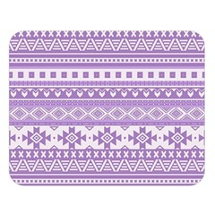 Fancy Tribal Borders Lilac Double Sided Flano Blanket (Large)