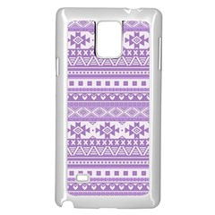 Fancy Tribal Borders Lilac Samsung Galaxy Note 4 Case (White)