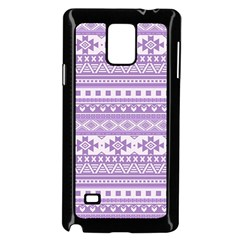 Fancy Tribal Borders Lilac Samsung Galaxy Note 4 Case (Black)