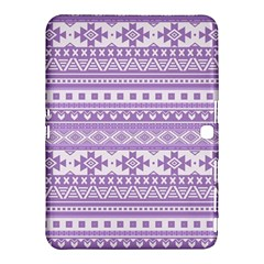 Fancy Tribal Borders Lilac Samsung Galaxy Tab 4 (10.1 ) Hardshell Case
