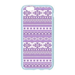 Fancy Tribal Borders Lilac Apple Seamless iPhone 6 Case (Color)