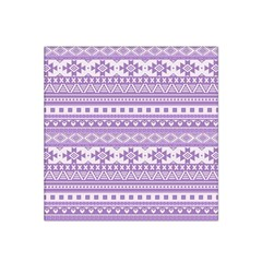 Fancy Tribal Borders Lilac Satin Bandana Scarf