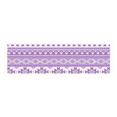 Fancy Tribal Borders Lilac Satin Scarf (Oblong)