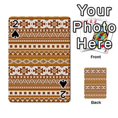 Fancy Tribal Borders Golden Playing Cards 54 Designs