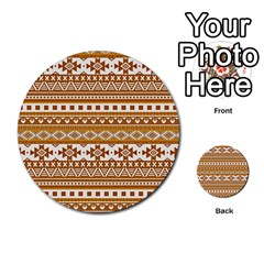 Fancy Tribal Borders Golden Multi-purpose Cards (Round)