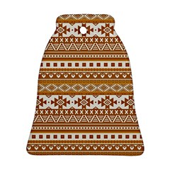 Fancy Tribal Borders Golden Bell Ornament (2 Sides)
