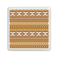 Fancy Tribal Borders Golden Memory Card Reader (Square)