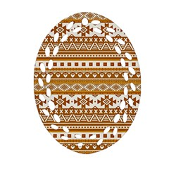 Fancy Tribal Borders Golden Ornament (Oval Filigree)
