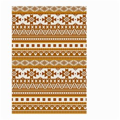 Fancy Tribal Borders Golden Small Garden Flag (Two Sides)