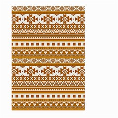 Fancy Tribal Borders Golden Large Garden Flag (two Sides)