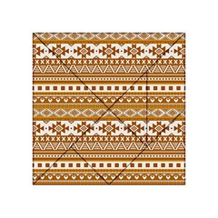Fancy Tribal Borders Golden Acrylic Tangram Puzzle (4  X 4 )