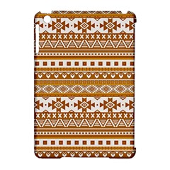 Fancy Tribal Borders Golden Apple Ipad Mini Hardshell Case (compatible With Smart Cover)