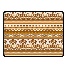 Fancy Tribal Borders Golden Double Sided Fleece Blanket (small)