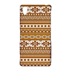 Fancy Tribal Borders Golden Sony Xperia Z2