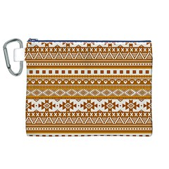 Fancy Tribal Borders Golden Canvas Cosmetic Bag (XL)