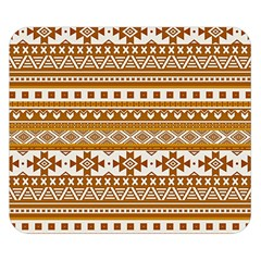 Fancy Tribal Borders Golden Double Sided Flano Blanket (Small)