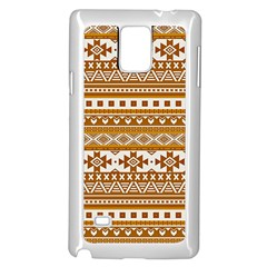 Fancy Tribal Borders Golden Samsung Galaxy Note 4 Case (White)