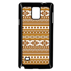 Fancy Tribal Borders Golden Samsung Galaxy Note 4 Case (Black)