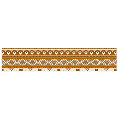 Fancy Tribal Borders Golden Flano Scarf (Small)