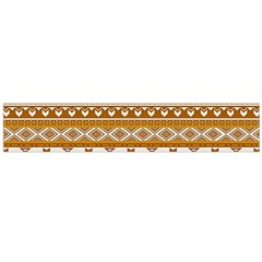 Fancy Tribal Borders Golden Flano Scarf (Large)