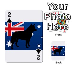Australian Cattle Dog Silhouette on Australia Flag Playing Cards 54 Designs