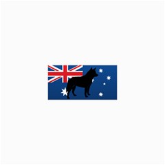 Australian Cattle Dog Silhouette On Australia Flag Collage 12  X 18