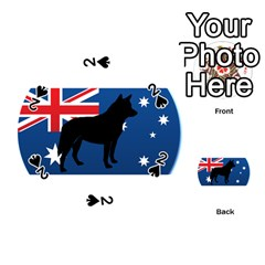 Australian Cattle Dog Silhouette on Australia Flag Playing Cards 54 (Round)