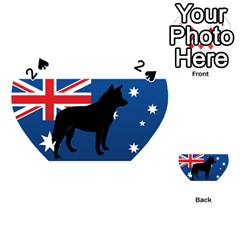 Australian Cattle Dog Silhouette on Australia Flag Playing Cards 54 (Heart)