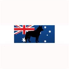 Australian Cattle Dog Silhouette on Australia Flag Large Bar Mats