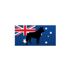 Australian Cattle Dog Silhouette on Australia Flag 5.5  x 8.5  Notebooks