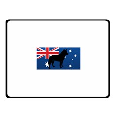 Australian Cattle Dog Silhouette on Australia Flag Fleece Blanket (Small)