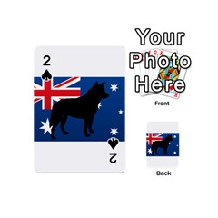Australian Cattle Dog Silhouette on Australia Flag Playing Cards 54 (Mini)