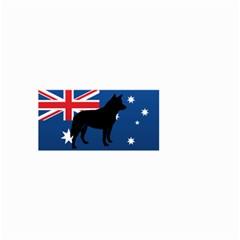 Australian Cattle Dog Silhouette on Australia Flag Small Garden Flag (Two Sides)