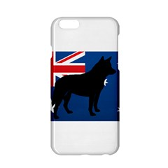 Australian Cattle Dog Silhouette on Australia Flag Apple iPhone 6 Hardshell Case
