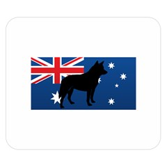 Australian Cattle Dog Silhouette on Australia Flag Double Sided Flano Blanket (Small)