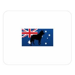 Australian Cattle Dog Silhouette on Australia Flag Double Sided Flano Blanket (Large)