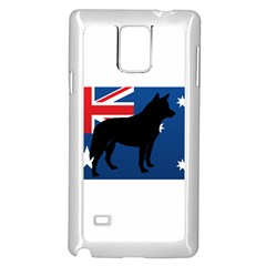 Australian Cattle Dog Silhouette on Australia Flag Samsung Galaxy Note 4 Case (White)
