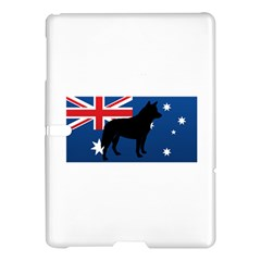 Australian Cattle Dog Silhouette on Australia Flag Samsung Galaxy Tab S (10.5 ) Hardshell Case