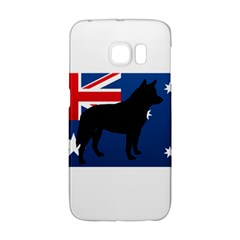 Australian Cattle Dog Silhouette on Australia Flag Galaxy S6 Edge