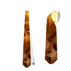 Gold Stars Neckties (two Side)