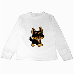 Lancashire Heeler Cartoon Kids Long Sleeve T-Shirts