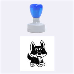Lancashire Heeler Cartoon Rubber Round Stamps (Medium)