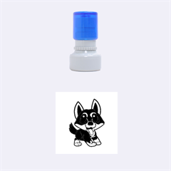 Lancashire Heeler Cartoon Rubber Round Stamps (small)