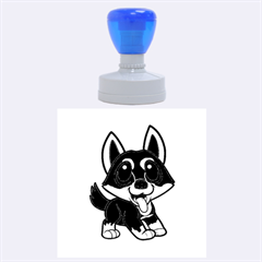 Lancashire Heeler Cartoon Rubber Round Stamps (Large)
