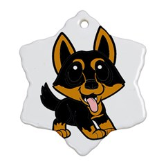Lancashire Heeler Cartoon Snowflake Ornament (2-Side)