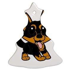 Lancashire Heeler Cartoon Christmas Tree Ornament (2 Sides)