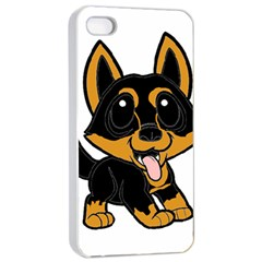 Lancashire Heeler Cartoon Apple iPhone 4/4s Seamless Case (White)