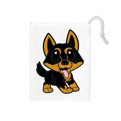 Lancashire Heeler Cartoon Drawstring Pouches (Medium)