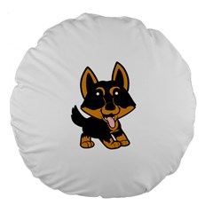 Lancashire Heeler Cartoon Large 18  Premium Flano Round Cushions